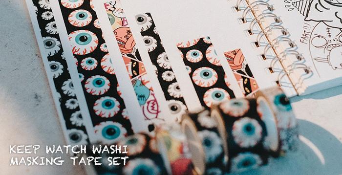 KEEP WATCH WASHI MASKING TAPE SET